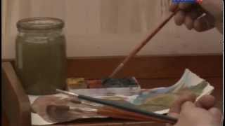 Уроки рисования с Сергеем Андриякой  Весенний пейзаж