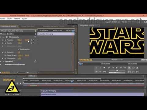 Como hacer títulos Star Wars en Adobe Premiere