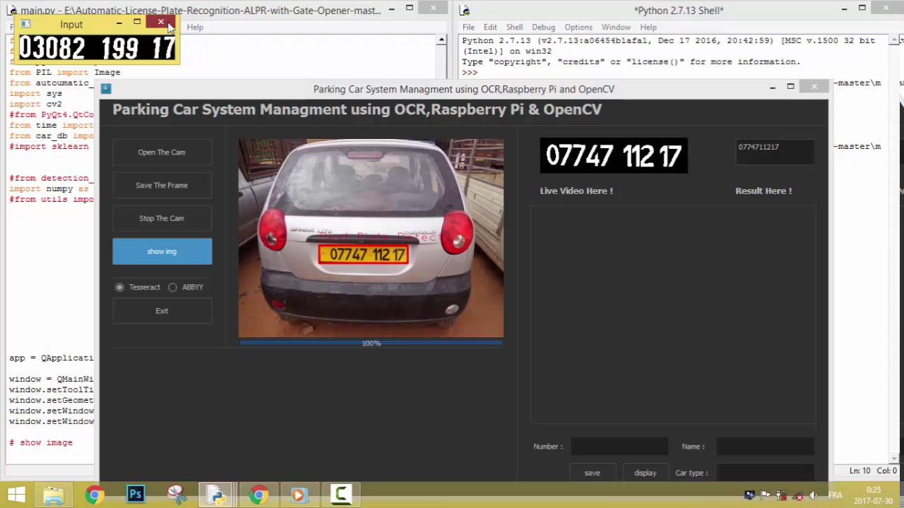 License Plate Recognition using Python & OpenCV -