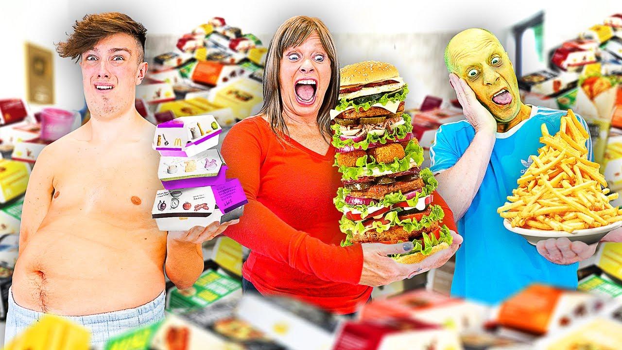 Last To Stop Eating McDonalds Wins $10,000 - Challenge