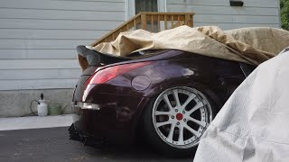 Bagged 350z Overfender Install