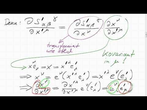 Ableitungen von Tensoren, metrischer Tensor
