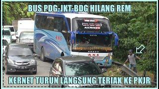 Download Bus Padang-Jakarta-Bandung Hilang Rem, Kernet Turun Langsung Teriak ke PKJR di Sitinjau Lauik