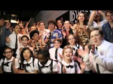 Students of Oakland School for the Arts send love to Broadway