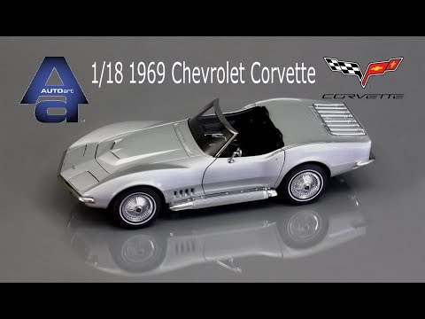 1/18 Autoart 1969 Chevrolet Corvette Die Cast Model Car