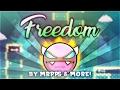 """Freedom"" [DEMON] by MrPPS & more! | Geometry Dash 2.1 | GuitarHeroStyles"