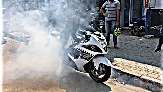 BEST INDIAN STREET BURNOUT || SUPERBIKE HAYABUSA || NEW COMPILATION || 2018 || INDIAN MOTOVLOGGER