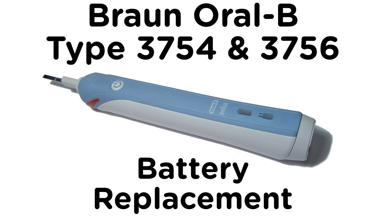 Battery Replacement Guide for Braun Oral-B Type 3756   3754 Professional  Care and TriZone Toothbrush - YouTube 0c3a51cd58158