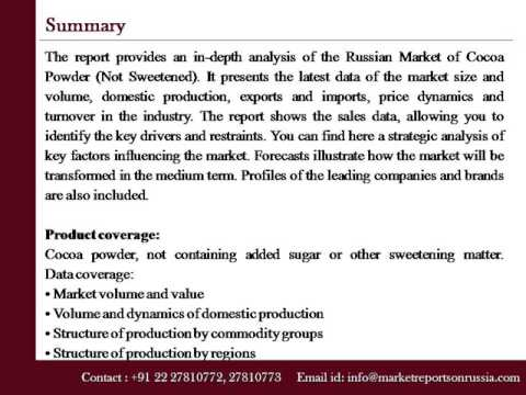 Russia Cocoa Powder   Analysis and Forecast to 2020