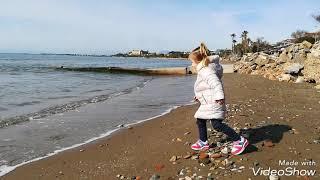 Море в феврале. Средиземное море. Турция Анталия Сиде