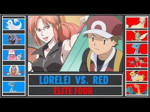 Red vs. Lorelei (Pokémon Sun/Moon) - Indigo Plateau/Pokémon League - Pokémon Origins |