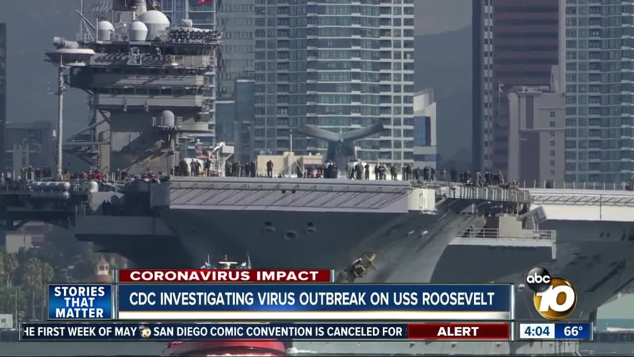 CDC investigating virus outbreak on USS Roosevelt