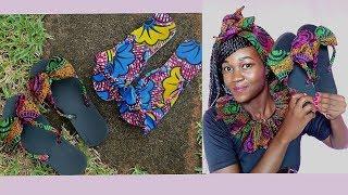 DIY Slipper/Flip flop Sandals with Ankara- Beautarie