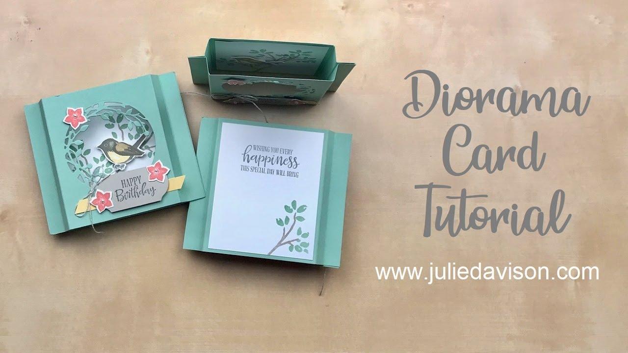 Fun Fold Series: Diorama Card featuring Birds & Branches