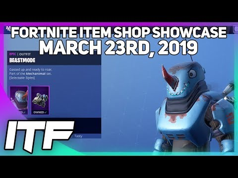 Fortnite Item Shop *NEW* BEASTMODE OUTFIT + MULTIPLE STYLES! [March 23rd, 2019] thumbnail