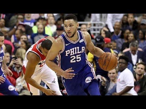 Ben Simmons, Markelle Fultz NBA Debut! John Wall Dunks! 76ers vs Wizards