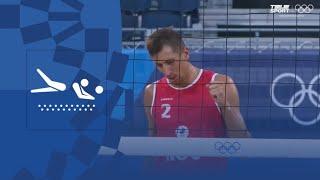 Испания Россия Пляжный волейбол муж 1 8 финала Олимпиада 2020 Обзор матча