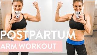 Postpartum At Home Arm Workout | 10 minutes, Dumbbells