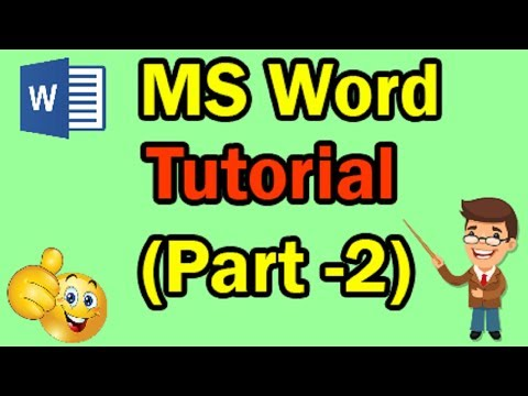 Microsoft Word Tutorial for Beginners || Part-2 || MS Word Training thumbnail