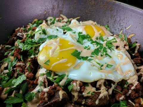 papas-bravas-topped-with-chorizo-crispy-potatoes-food-flipped-ep-58