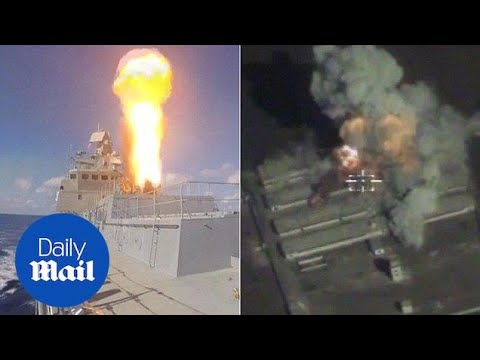 Russian Cruise missiles launched off coast blast targets in Syria - Daily Mail