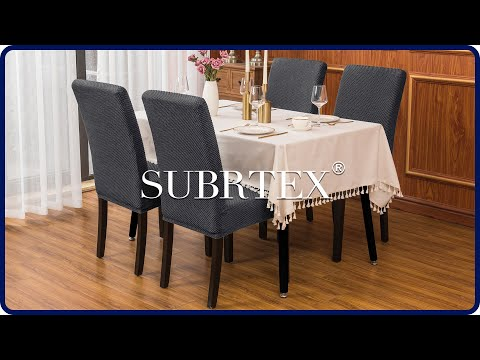 How To Install Stretch Dining Room Chair Covers By Subrtex