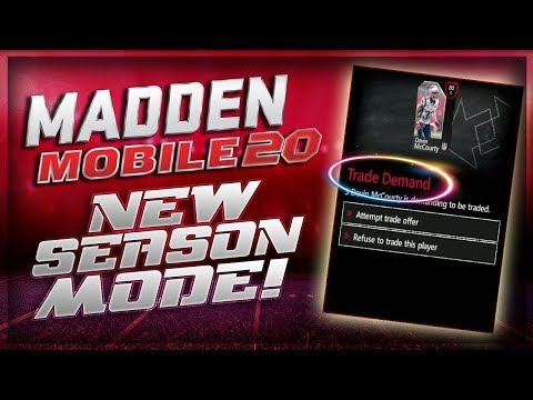 Madden Mobile 20 NEW SEASON MODE GAMEPLAY SNEAK PEEK!!!