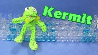 Rainbow Loom Charms: KERMIT the FROG - How to Tutorial (DIY Mommy)