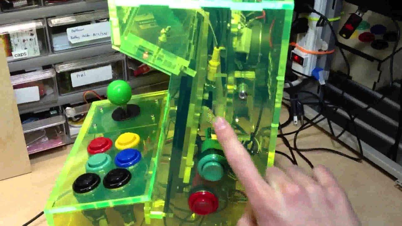 9fe16e0a5cfc3 HD Limited Neon Edition Porta Pi Arcade Cabint Kit - YouTube