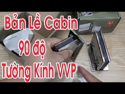 Phòng tắm kính - Bản lề cabin phòng tắm kính 90 Độ Tường Kính  VVP Thái Lan
