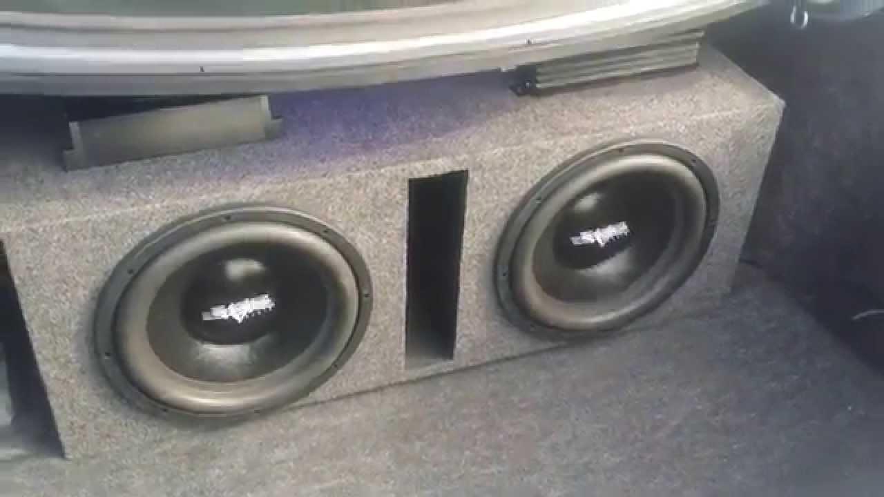 2 ix skar audio 12s on 1500 watt planet audio amp | FunnyCat TV
