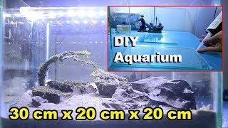 DIY Aquarium / DIY Nanotank For Betta Fish 30cm x 20cm x20cm