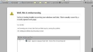 eComStation 2.1 - Firefox 8.0.1 quick crash