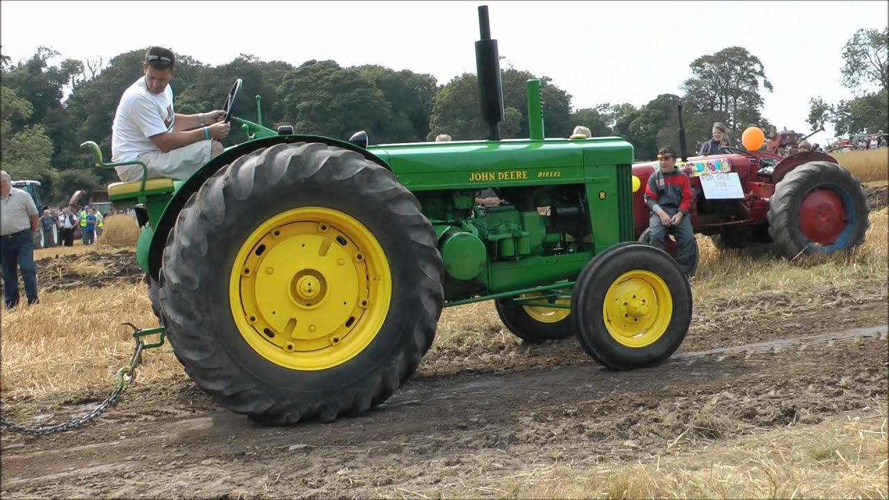 Old John Deere Tractors : Vintage john deere tractor pulling youtube