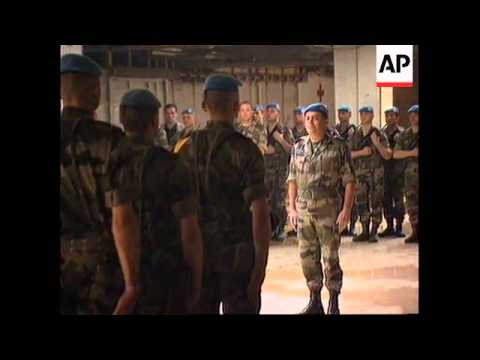 BOSNIA: MEMORIAL SERVICE FOR UN FRENCH SOLDIERS