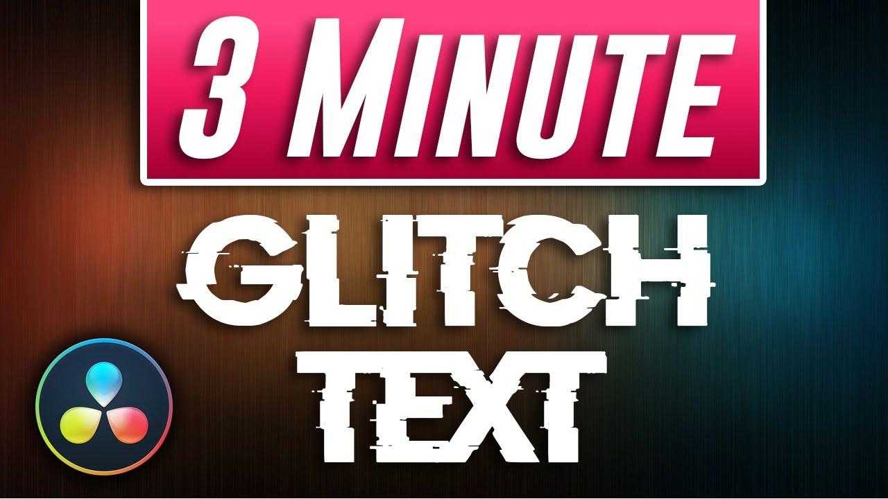 Text Glitch Effect Tutorial | Davinci Resolve 16