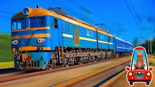 Поезда для детей все серии подряд. Большой сборник про поезда и вагоны для малышей