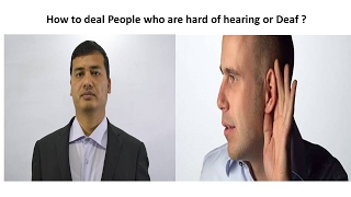 Security training how to deal people who are deaf or hard of hearing