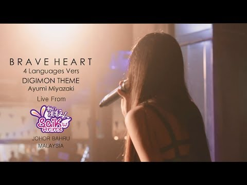 [LIVE] DIGIMON - Brave Heart (MindaRyn From Anime Saiko 2017) Johor Bahru Malaysia