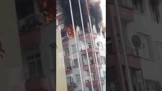 Mersin Davultepe'de Bir Evde Yangın Çıktı