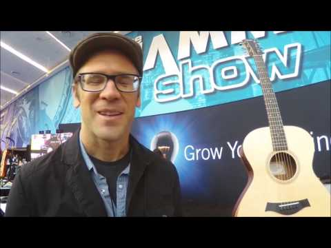 Andy Powers of Taylor Guitars discussing the Academy A12 and GS Mini Bass