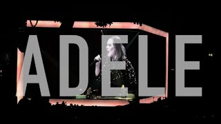 Adele's microphone stops working so crowd take over | adele live tour 2016 | birmingham 02/04