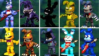 Five Nights at Freddy s 6 FNAF 1 2 3 4 5 ALL BONNIE ANIMATRONICS FNAF 2018
