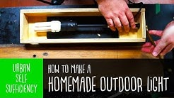 How to make a Homemade Outdoor Light using scraps