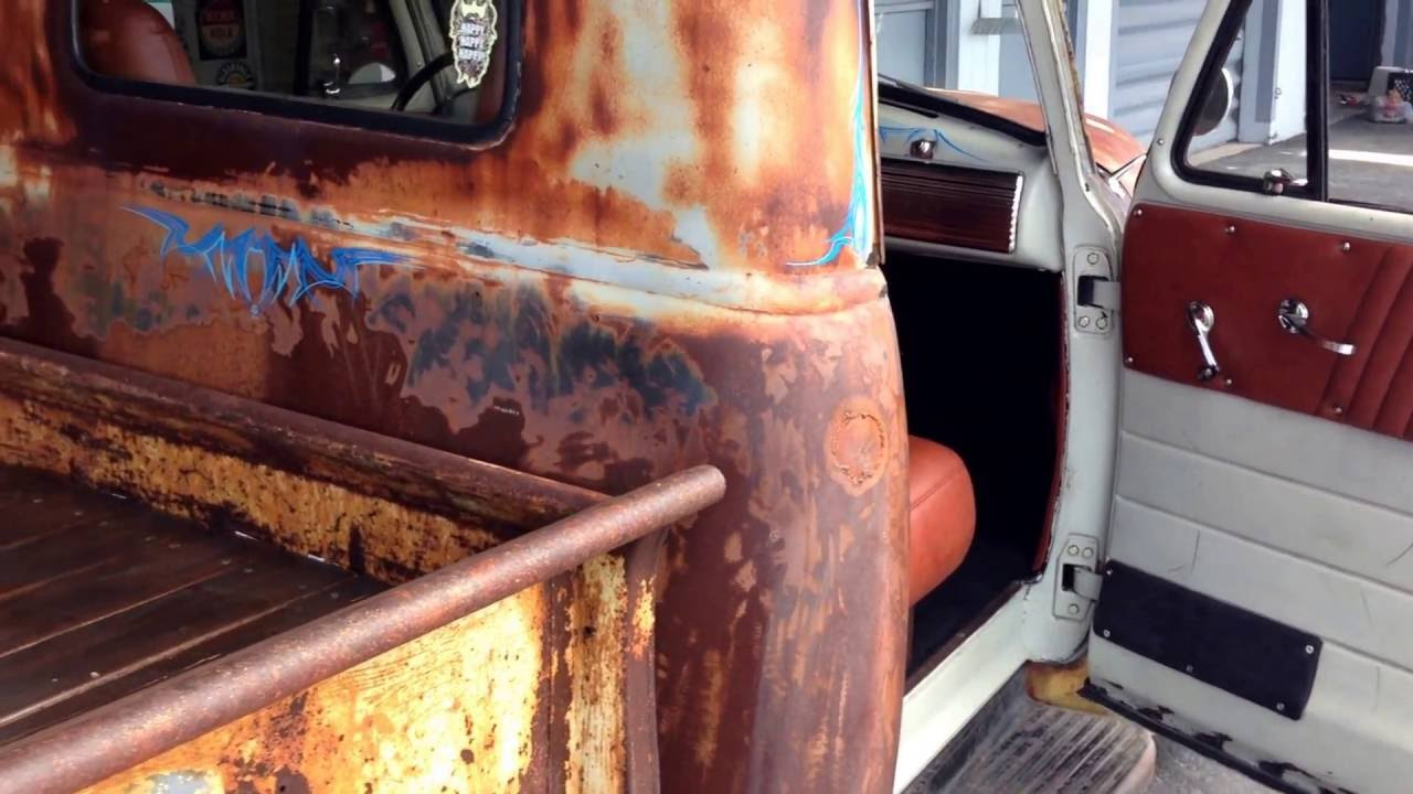 1952 Custom Chevy Truck Interior built by Shamrock Auto TRIM - YouTube