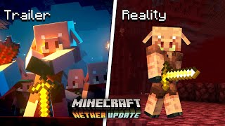 Minecraft Nether Update: Official Trailer vs Reality (1.16)