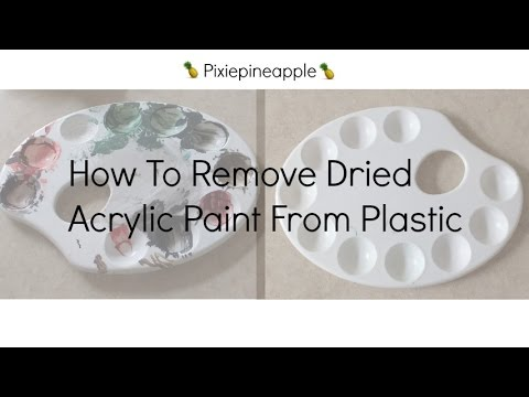 How To Remove Dried Acrylic Paint From Plastic Youtube