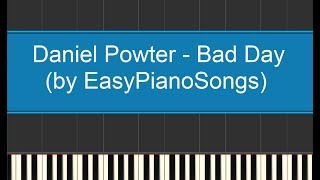 Bad Day (Daniel Powter) - easy piano cover synthesia + DOWNLOAD midi and sheet