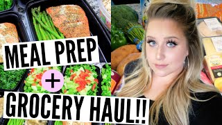 MEAL PREP FOR WEIGHT LOSS!! Easy & Affordable Ideas + Grocery Haul!!