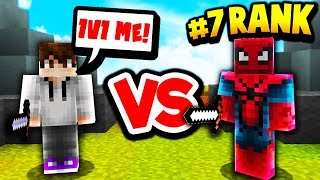1v1 AGAINST TOP RANKED MINECRAFT SKYWARS PLAYER!